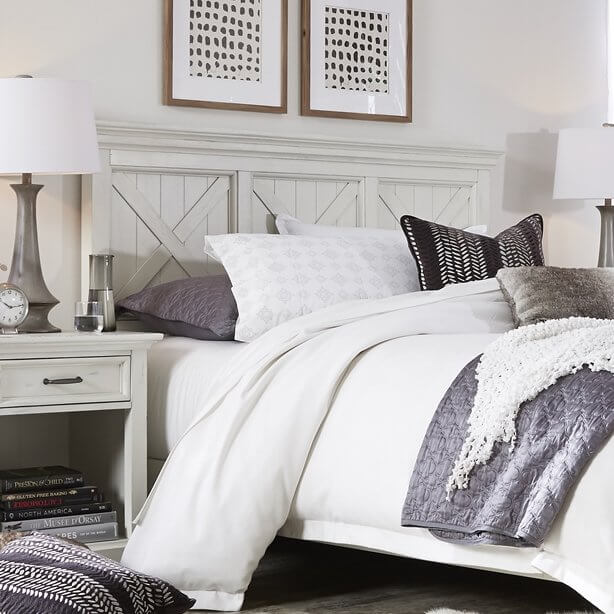 White Farmhouse Headboard