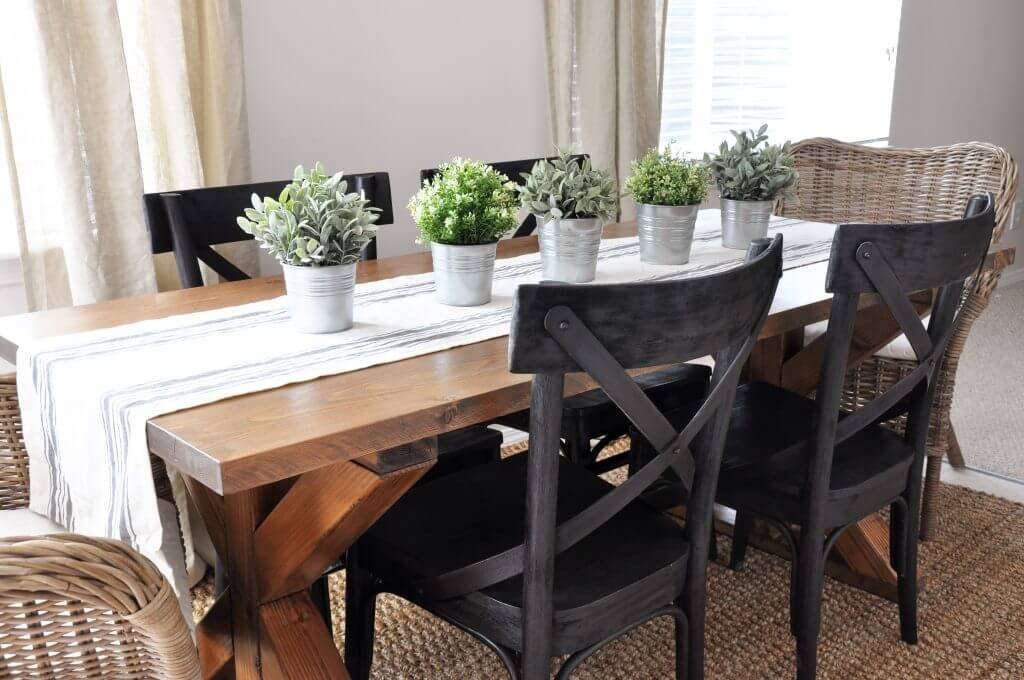 X Brace Farmhouse Table Plans
