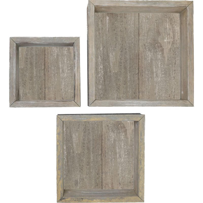 3-Piece Shadow Box Shelves