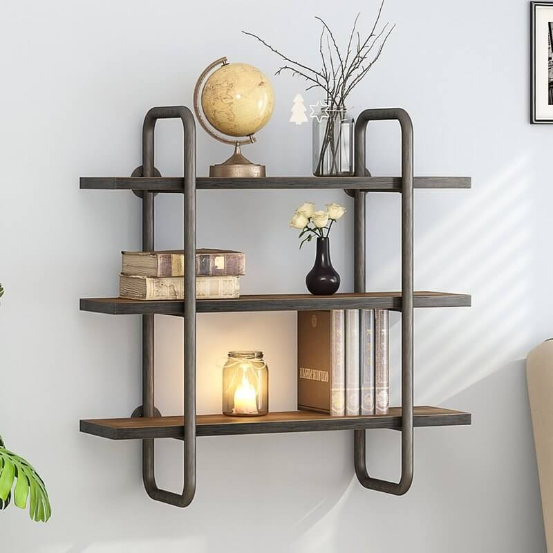 3-Tier Industrial Pipe Shelf