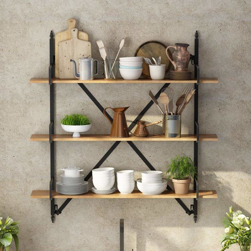 3-Tier X Style Kitchen Shelves