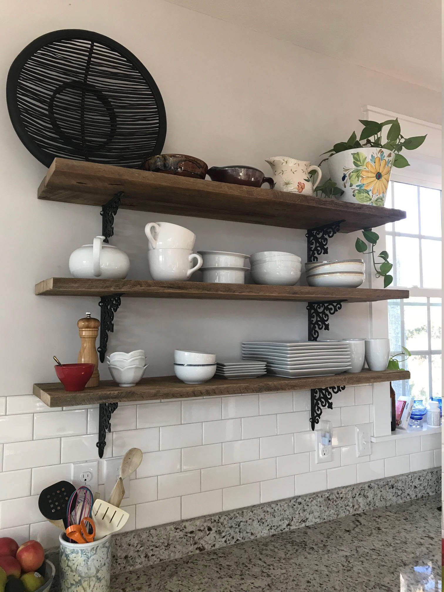 Barnhouse Wood Kitchen Shelves