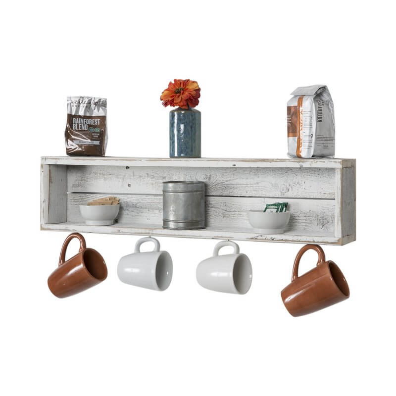 Coffee Cup Accent Wall Shelf