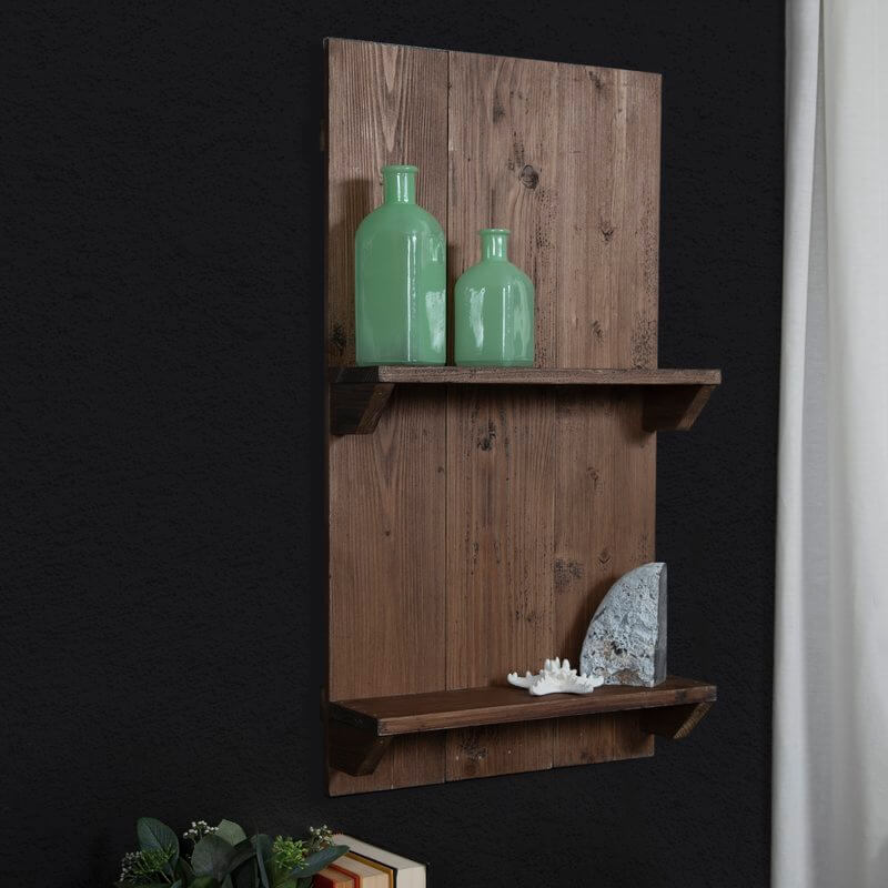 Natural Wood Pallet Wall Shelf