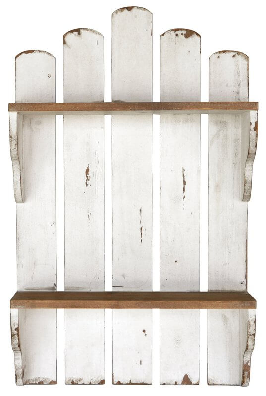 Picket Fence Kitchen Wall Shelf
