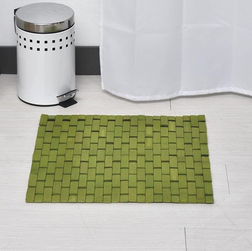 Roll Up Bamboo Slat Bathroom Rug