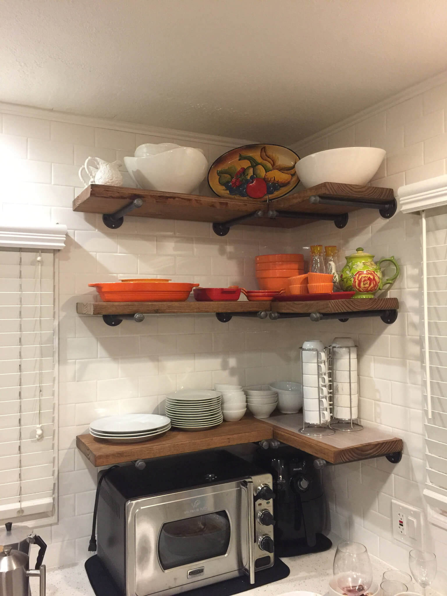 Set of 3 Corner Kitchen Shelves