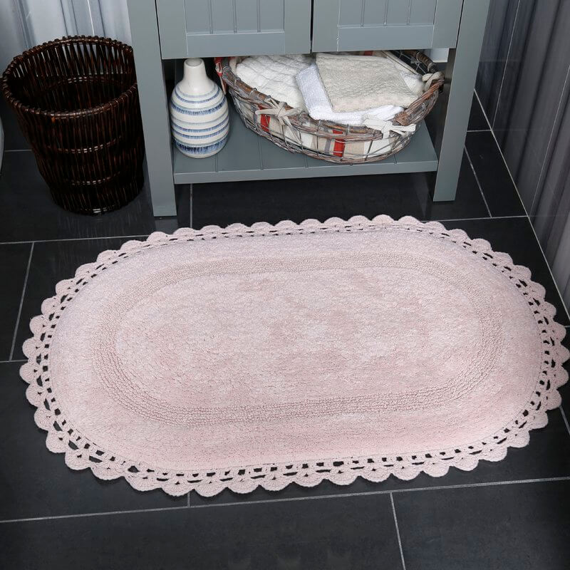 Shabby Chic Bathroom Rug Set