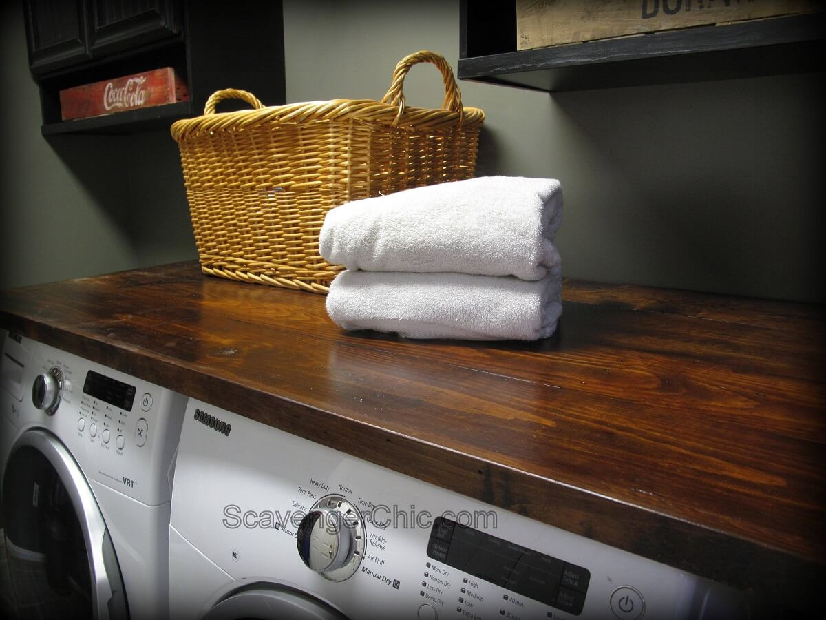 DIY Laundry Room Countertop