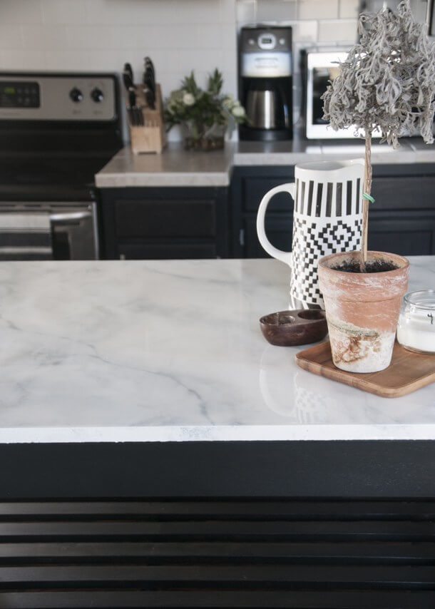 Faux Marble DIY Countertops