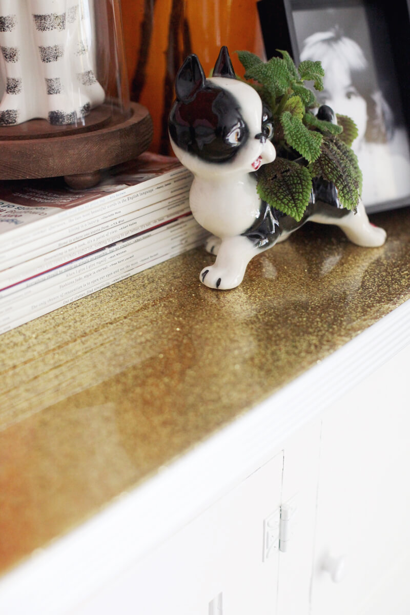Gold Glitter DIY Countertops