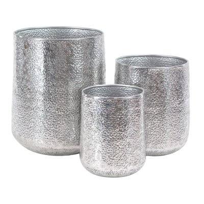 3-Piece Metallic Planter Set