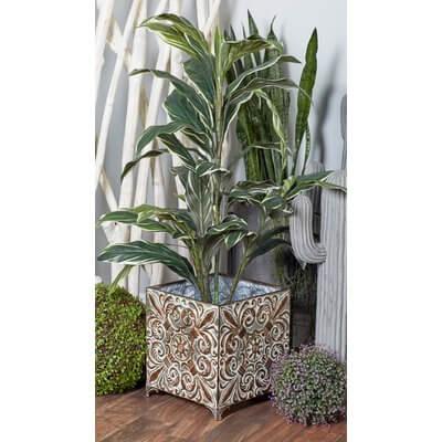 Botanical Inspired Square 3-Piece Planter Box Set