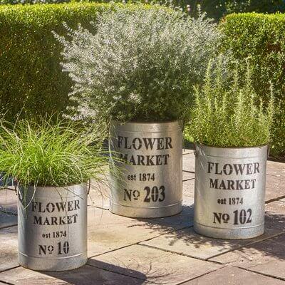 Flower Market Large Planter Set