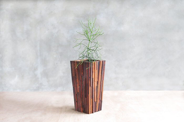 Mixed Sustainably Sourced Tropical Hardwood Planter