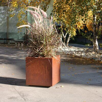 Rusted Patina Finished Large Planter