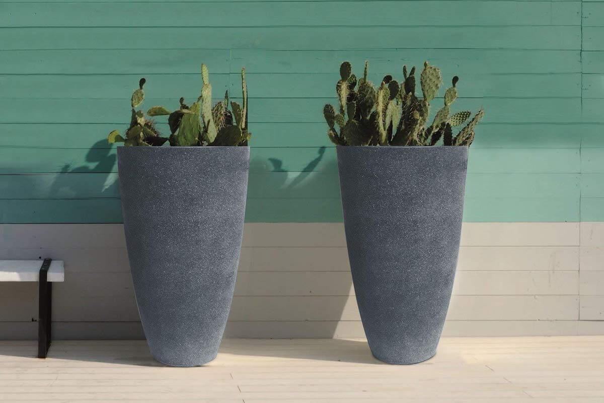 Set of Two Tall Planters