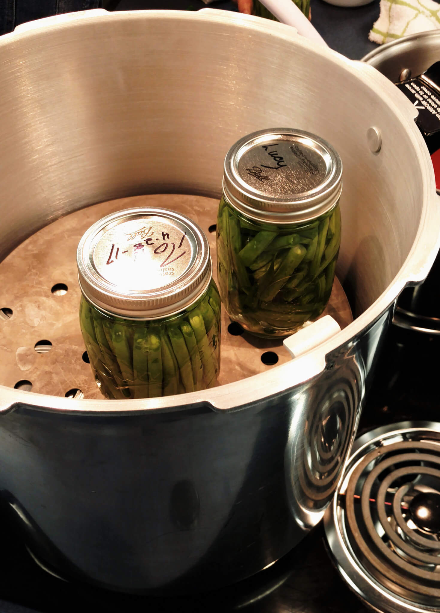 green beans in pressure canner