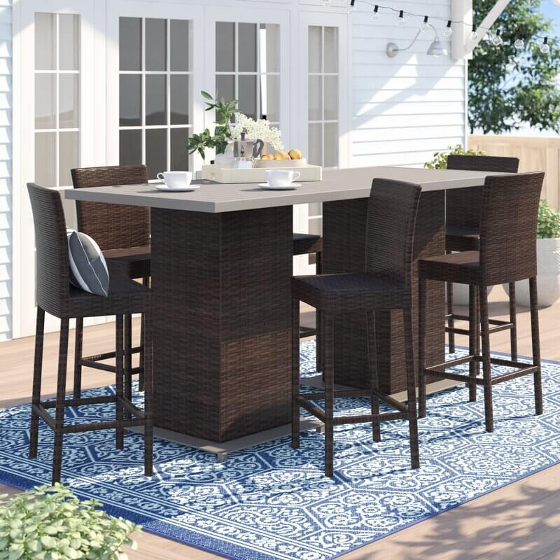 Bar Height Patio Dining Set