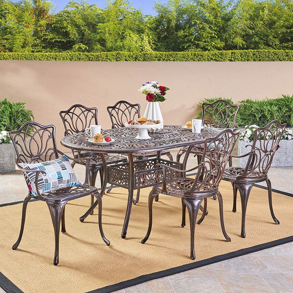 Garden Style Copper Dining Set
