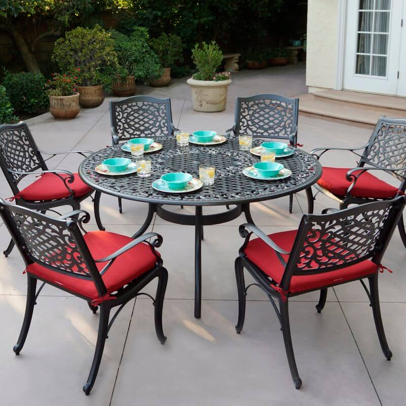 Metal Dining Set With Cushions