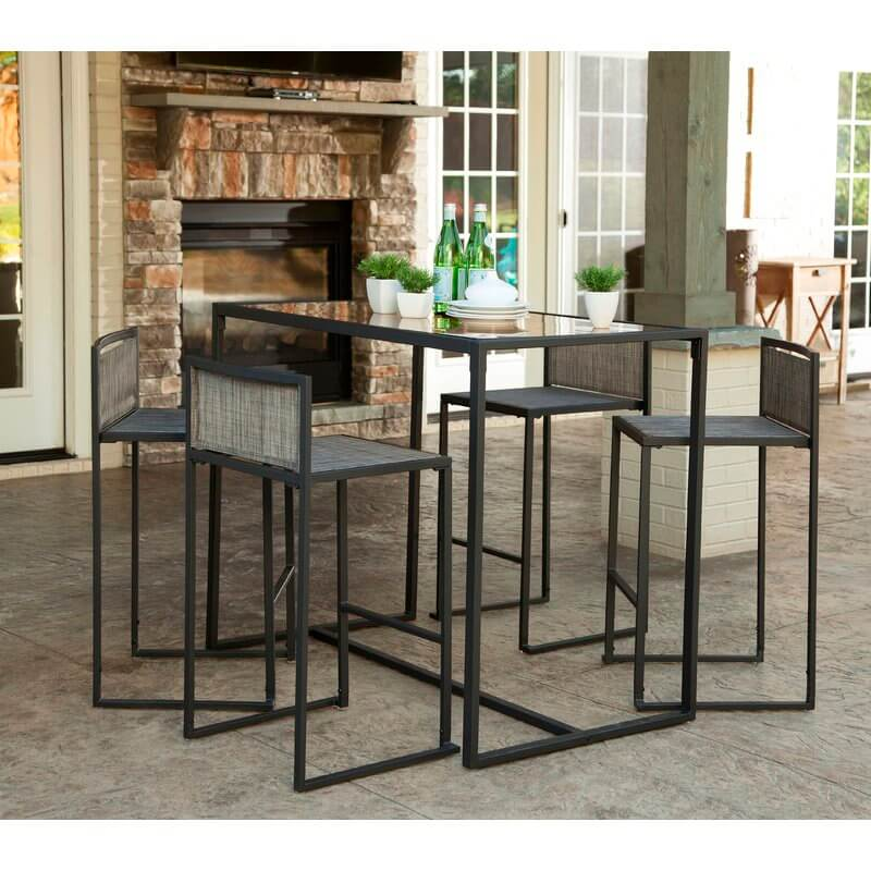 Minimalist Modern Bar Height Patio Set
