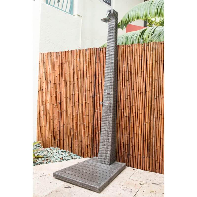 Rattan Style Outdoor Shower