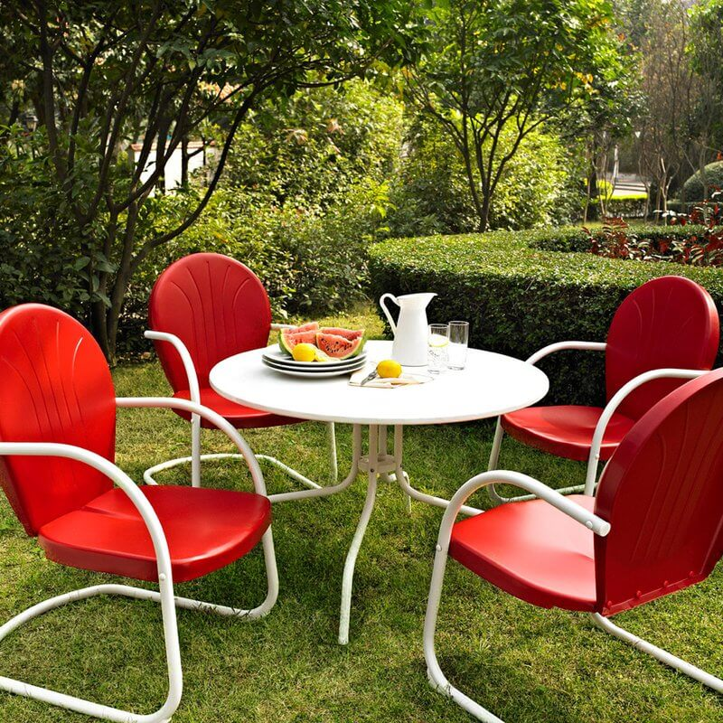 Retro Patio Dining Set