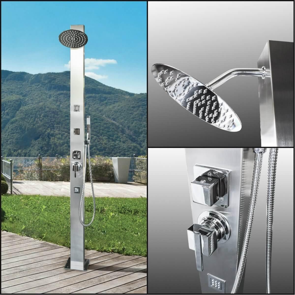 Stainless Steel Sleek Outdoor Shower