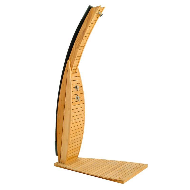 Teak Wood Free-Standing Shower