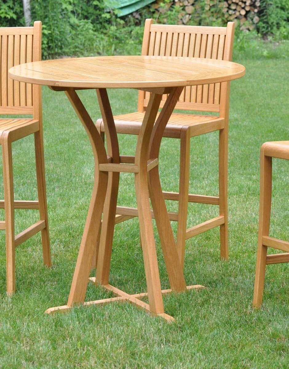 White Oak Patio Bistro Dining Set