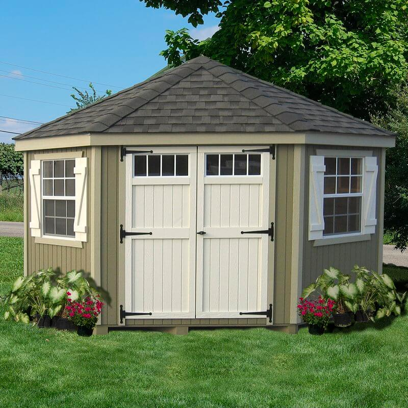 10' x 10' Colonial Storage Shed