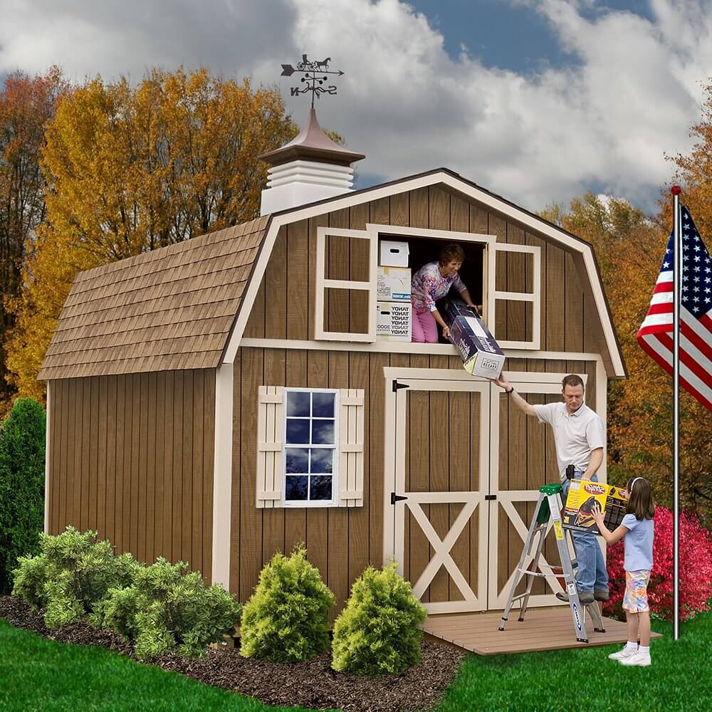 12' x 16' Wood Barn Shed