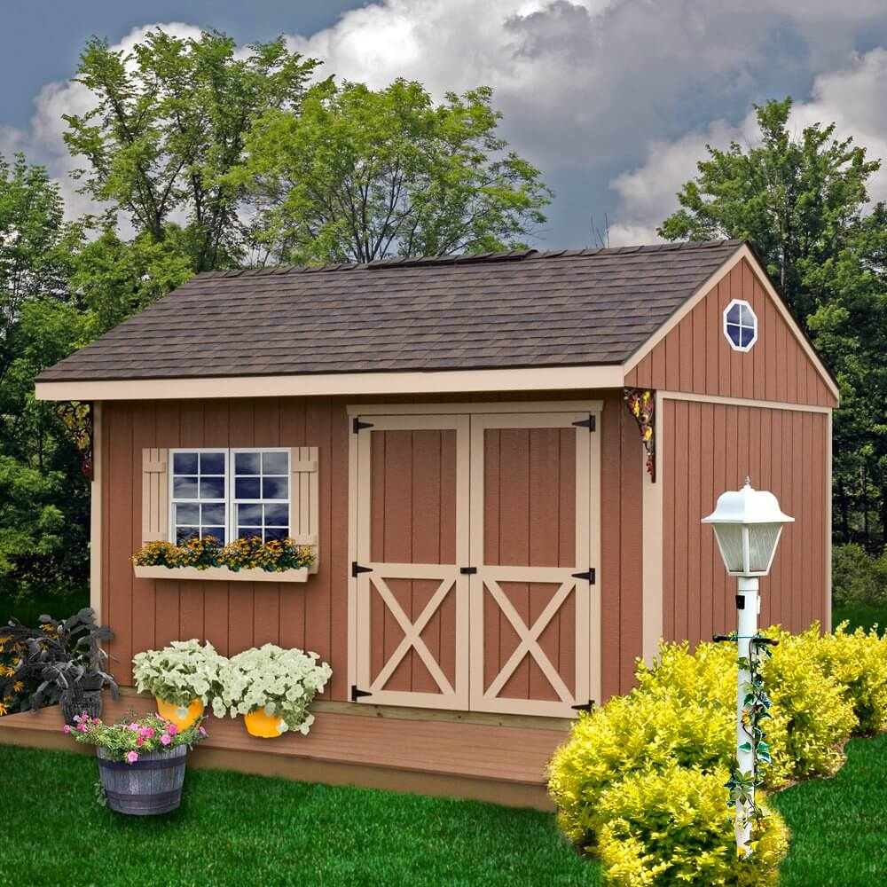 14' x 10' Solid Wood Storage Shed