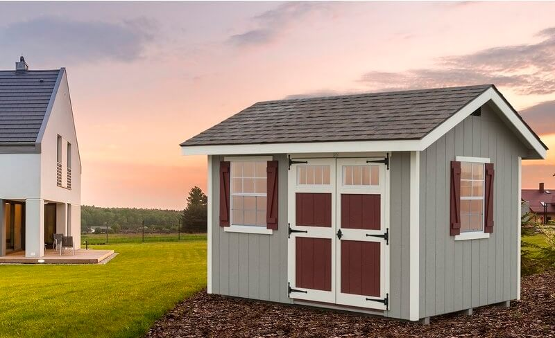 8' x 12' Wood Colonial Storage Shed