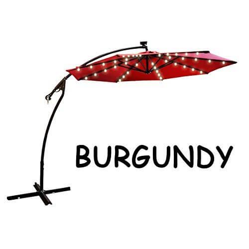 lit umbrella