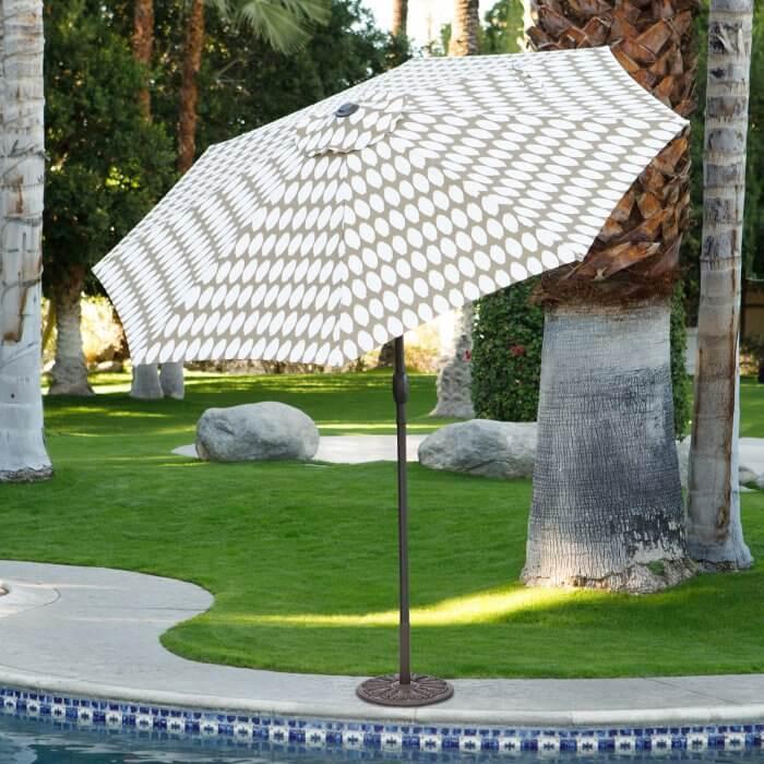 9' printed patio umbrella