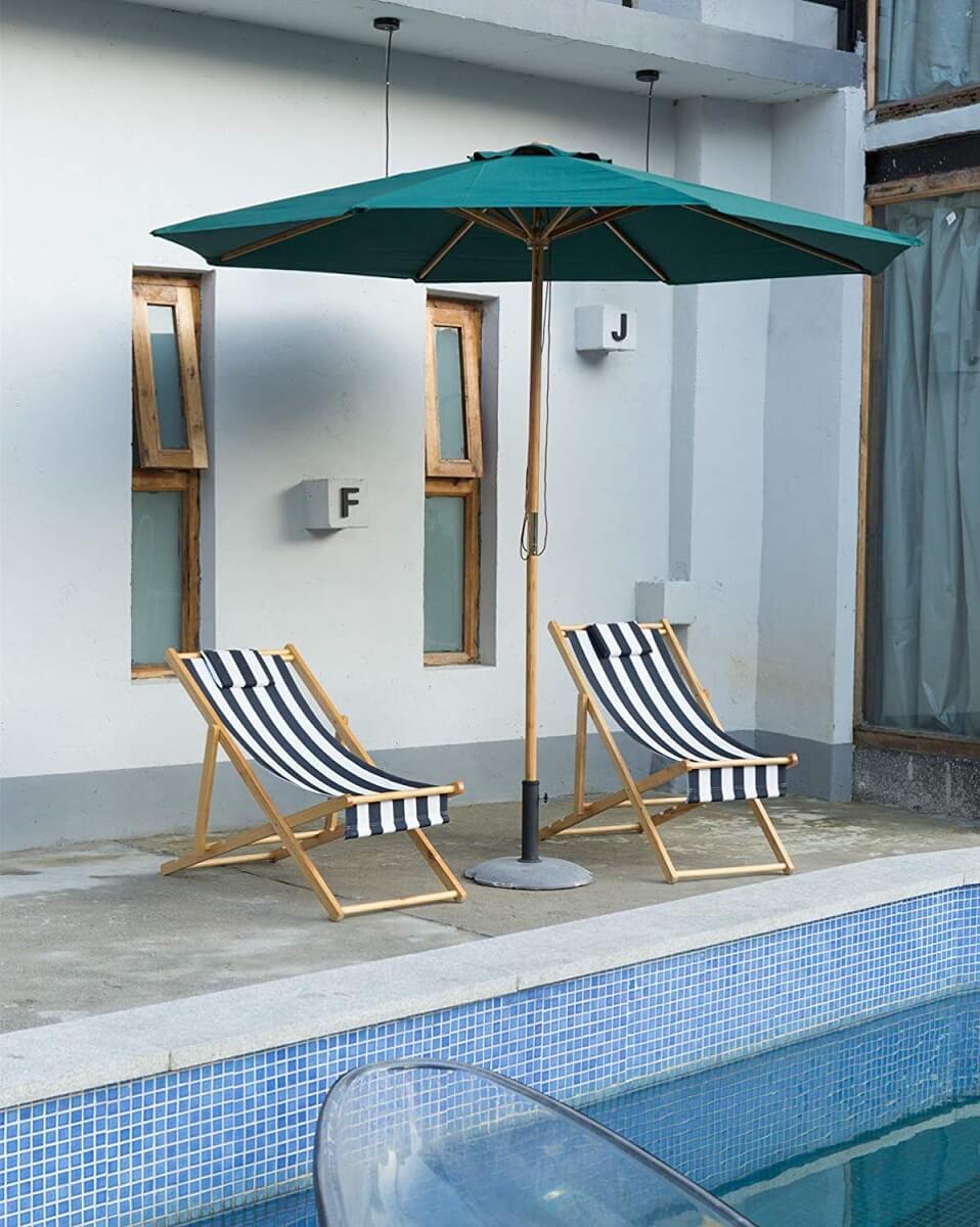 Bamboo Market Style Umbrella
