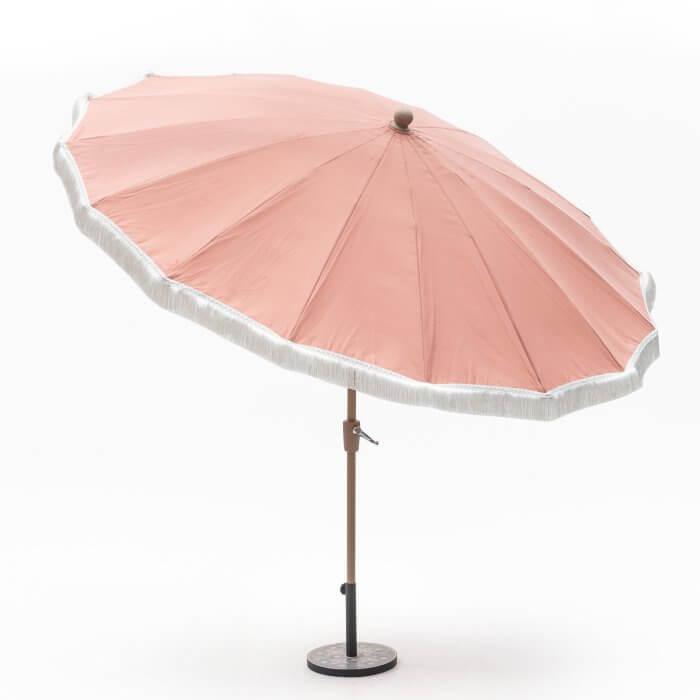 Coral Fringe Patio Umbrella