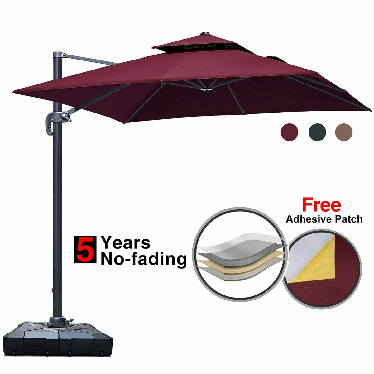 double top patio umbrella