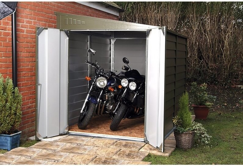 Large Metal Lean-To Storage Shed