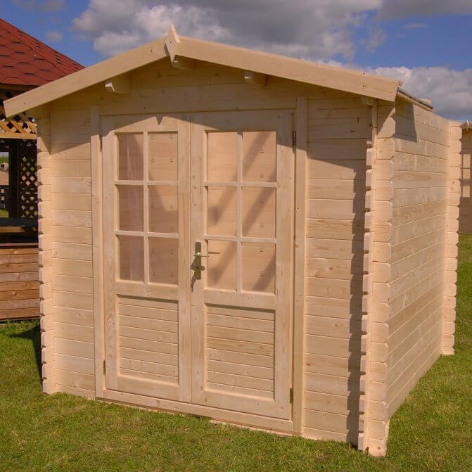 Log Cabin Style Storage Shed