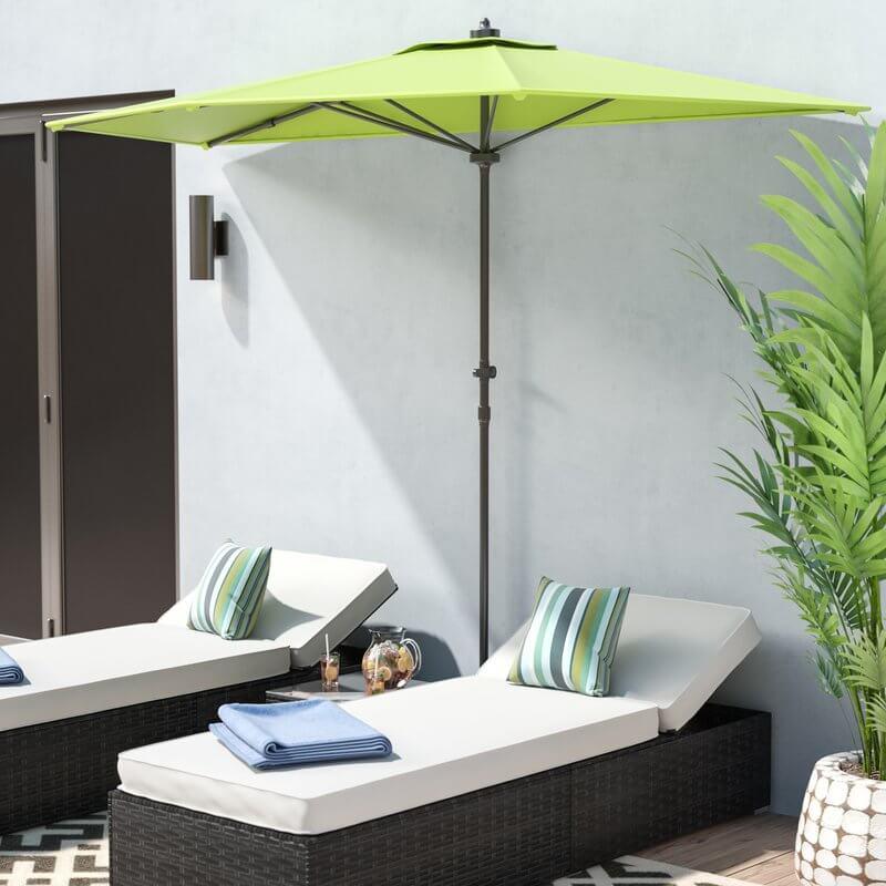 Market-Style Half Patio Umbrella