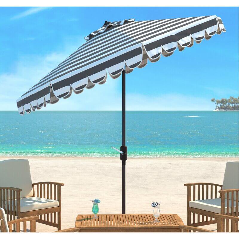 Market-Style Striped Draped Umbrella
