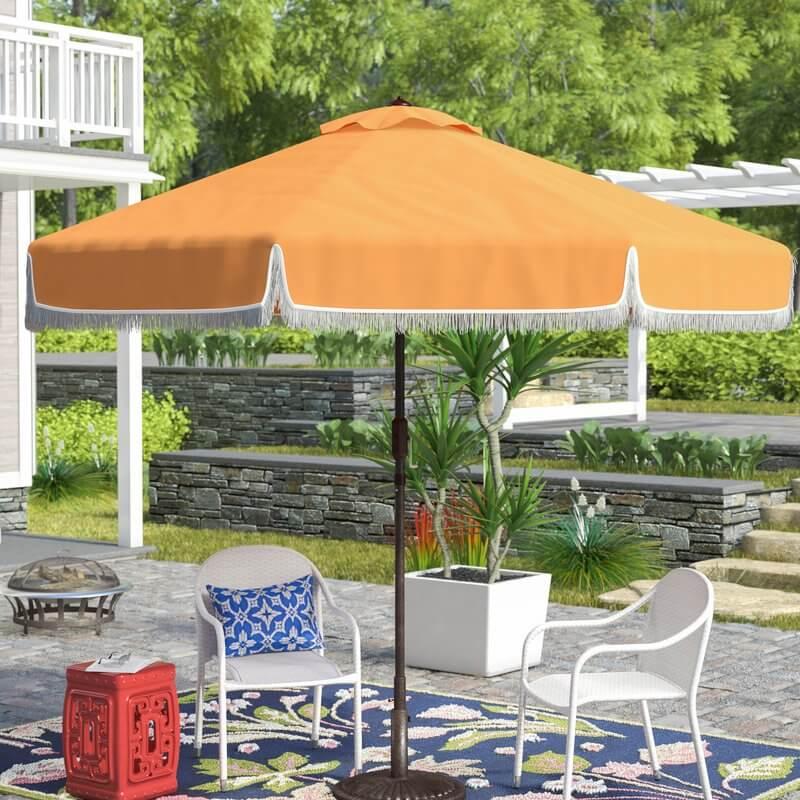 Market Umbrella with Fringe Details