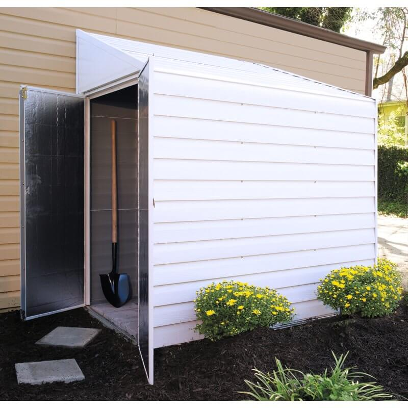 Metal Lean-To Storage Shed