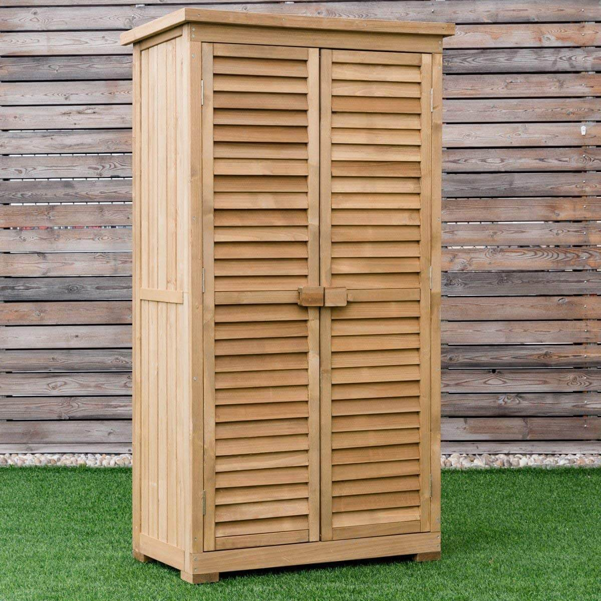 Shutter Style Vertical Storage Shed