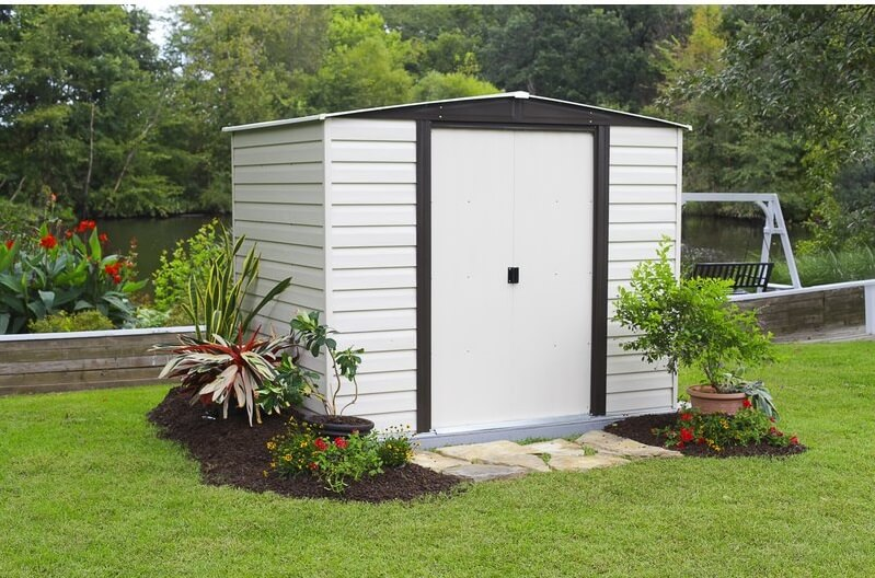 Simple Black and White Storage Shed