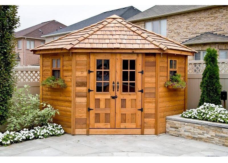 Solida Wood Storage Shed Penthouse
