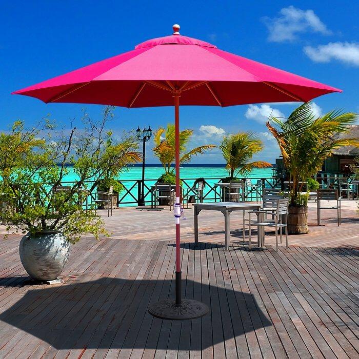 Traditional Teak Wood Patio Umbrella